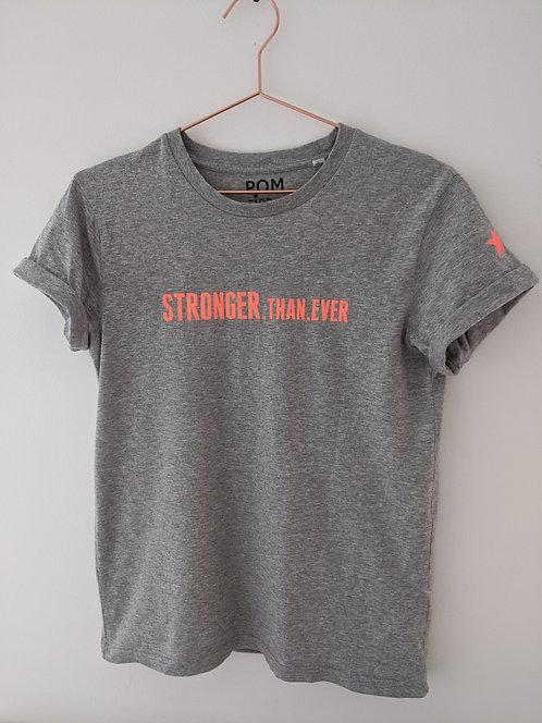 Stronger.Than.Ever Tee Grey, Navy