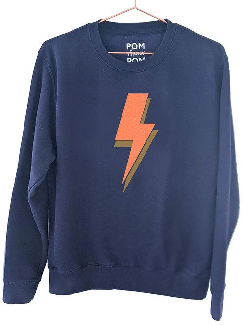 Lightning Bolt Sweatshirt Navy