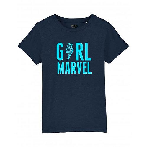 Kids Girl Marvel Tee Navy