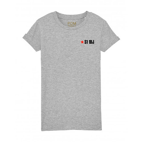 Womens S1 1DJ Tee Grey