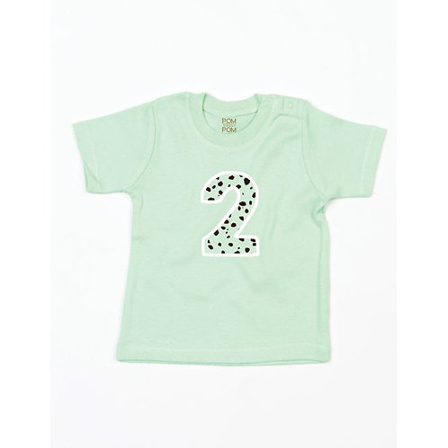 Baby Mint Green Number Tee