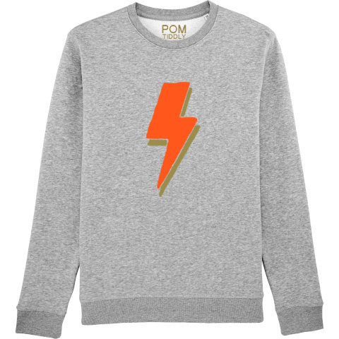 Kids Lightning Bolt Sweatshirt Grey