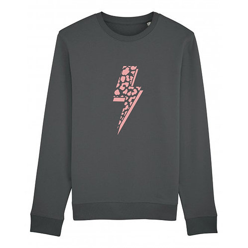 Leopard Bolt Sweatshirt Anthracite