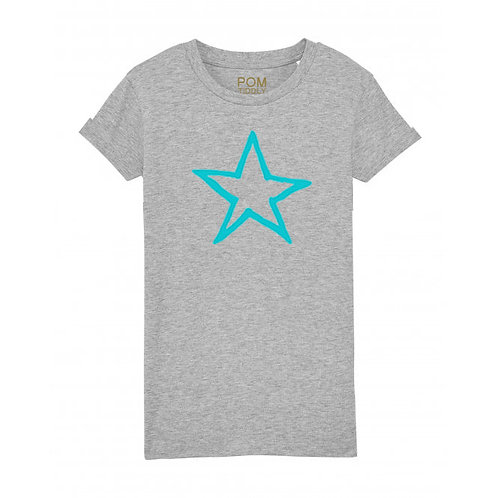 Kids Star Tee Grey