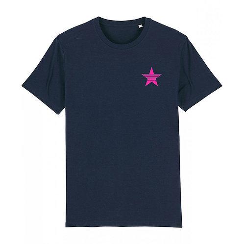 Mens Strikethrough Star Tee (chest decal) Navy