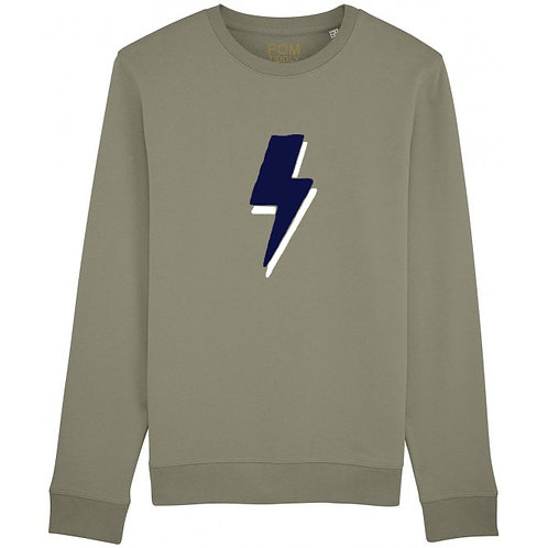 Lightning Bolt Sweatshirt Khaki