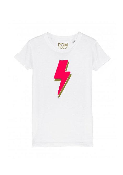 Kids Lightning Bolt Tee White