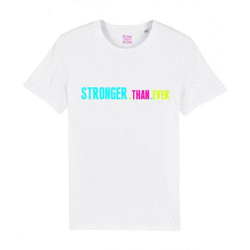 Kids Neon Stronger.Than.Ever Tee White