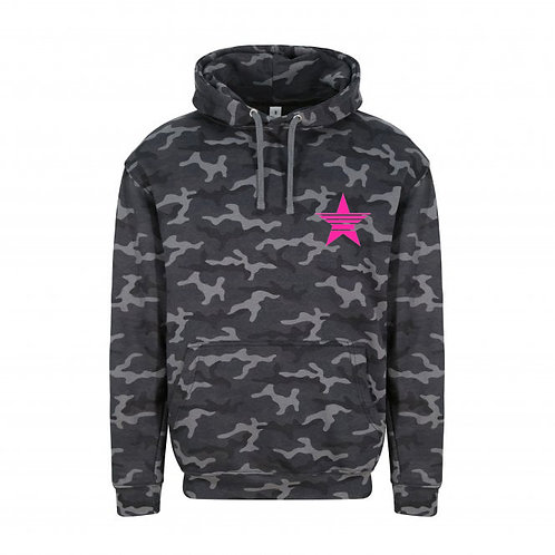 Adult Camo Strikethrough Star (small left chest) Hoodie