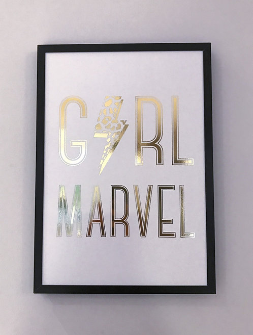 'Girl Marvel' Foiled Wall Print (unframed)