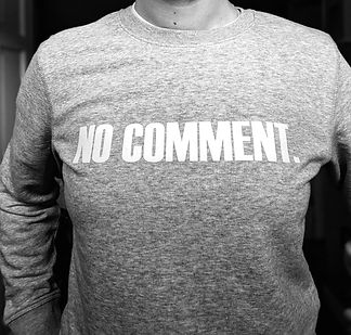 no comment sweatshirt pom tiddly pom