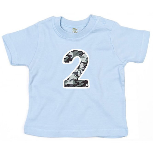 Baby Pastel Blue Number Tee