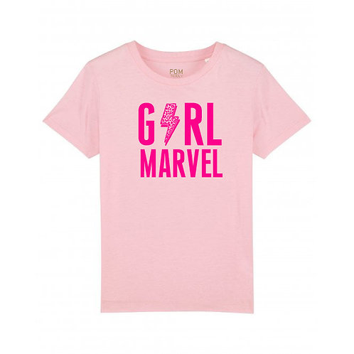 Kids Girl Marvel Tee Pale Pink
