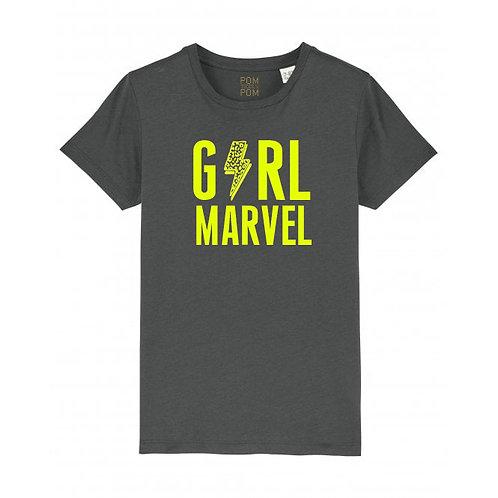 Kids Girl Marvel Tee Anthracite