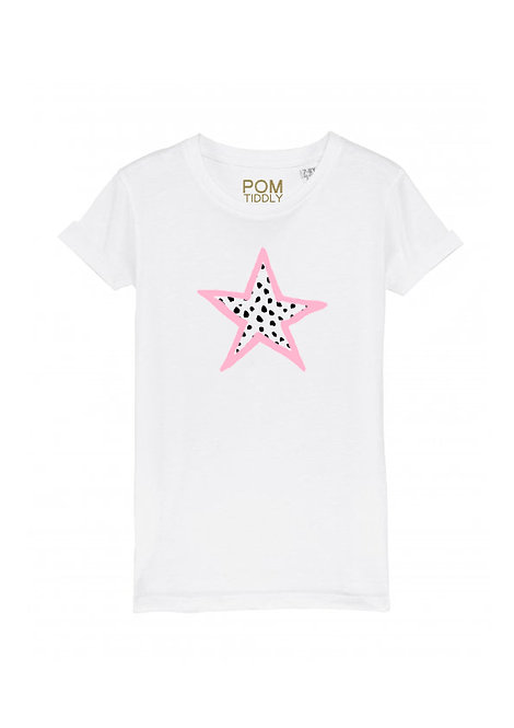 Womens Dalmation Star Tee White