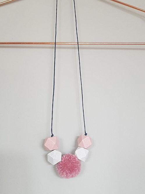 Geometric pom necklace in 'Lyceum'