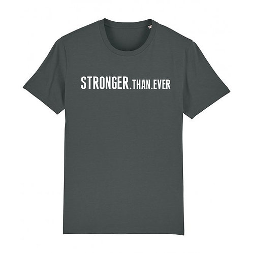 Mens Stronger.Than.Ever Tee Anthracite