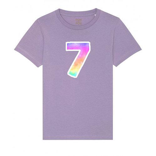 Kids Rainbow Number Tee