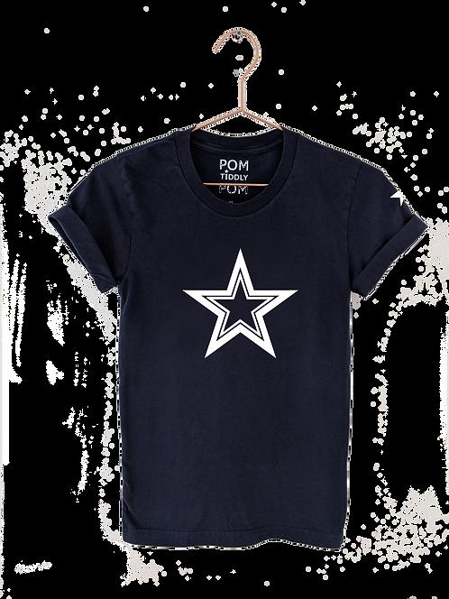 Triple Star Tee Navy