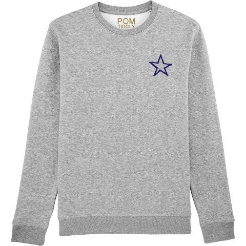 Star Sweatshirt Grey (small left chest)