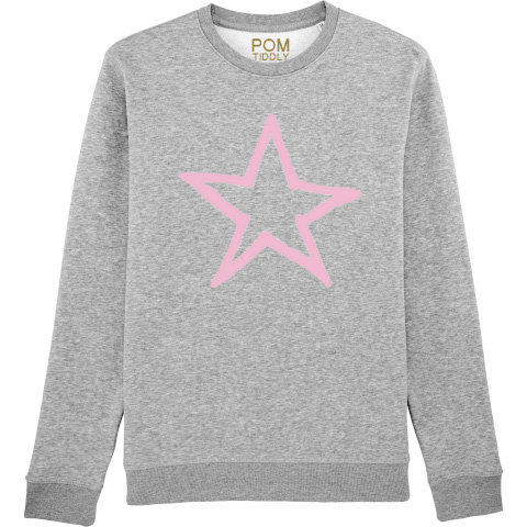 Kids Star Sweatshirt Grey