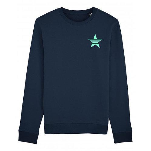 Strikethrough Sweatshirt Navy (small left chest)