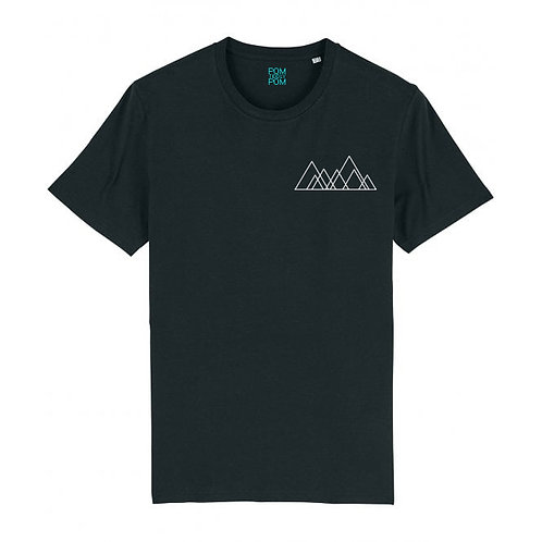 Mens Seven Hills (Mini Motif) Tee Black