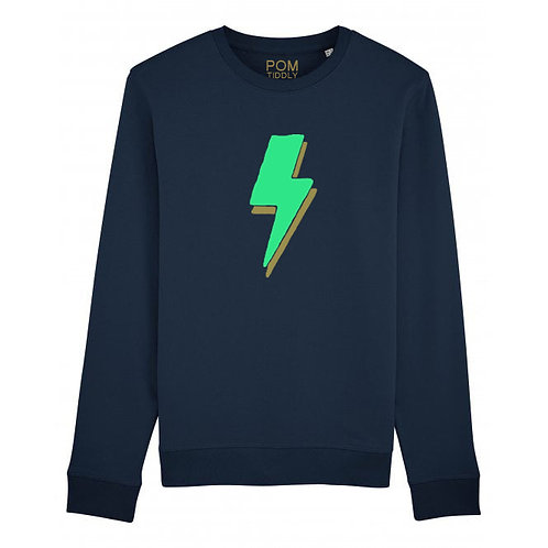 Kids Lightning Bolt Sweatshirt Navy