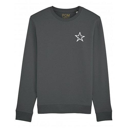 Star Sweatshirt Anthracite (small left chest)