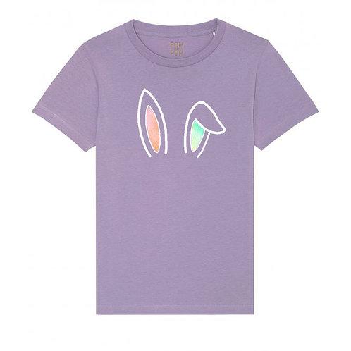 Kids Rainbow Smudge Bunny Ears Tee
