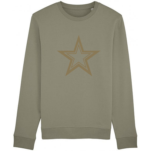 Triple Star Sweatshirt Khaki