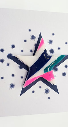 'Jazzy' Star Pin Badge 3cm