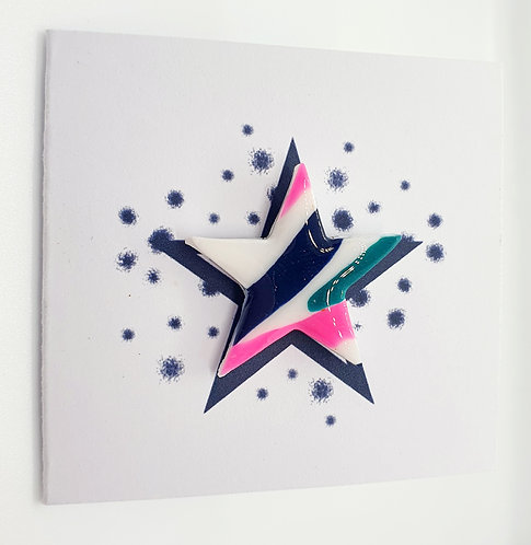 'Jazzy' Star Pin Badge 3cm