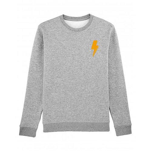 Lightning Bolt Sweatshirt Grey (small left chest)