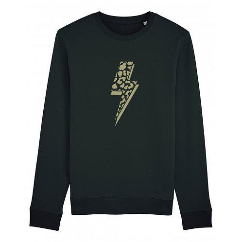 Leopard Bolt Sweatshirt Black