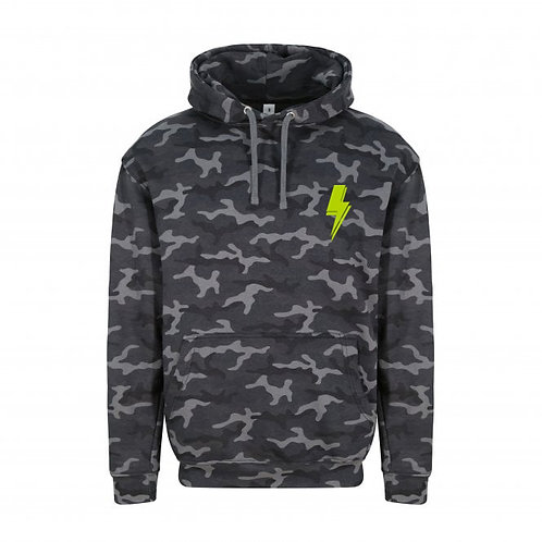 Adult Camo Lightning Bolt (small left chest) Hoodie