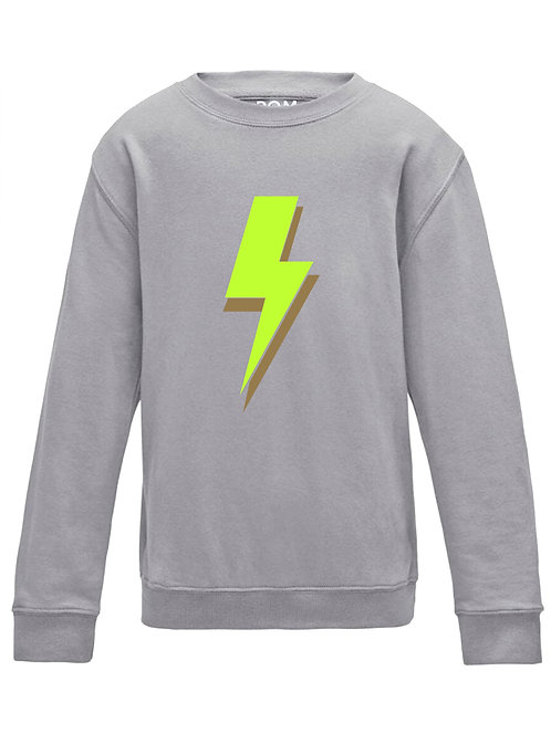 Lightning Bolt Sweatshirt Grey