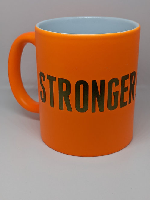 Stronger.Than.Ever Neon Orange Mug