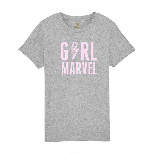 Kids Girl Marvel Tee Grey