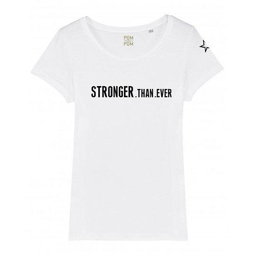 Womens Lightweight Stronger.Than.Ever Tee White
