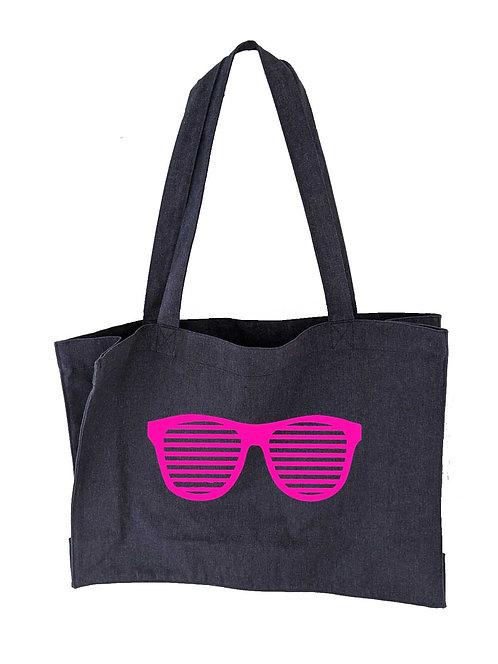 Sunglasses Oversized Tote bag Denim Blue