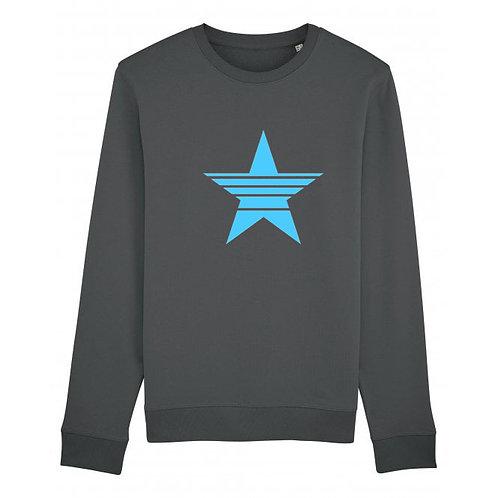 Strikethrough Star Sweatshirt Anthracite
