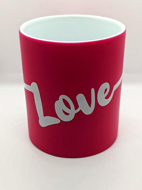 'Love' Neon Pink Mug