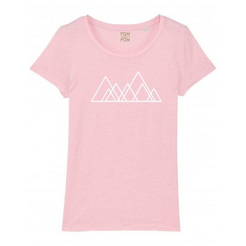 Womens Lightweight Seven Hills Tee Pink