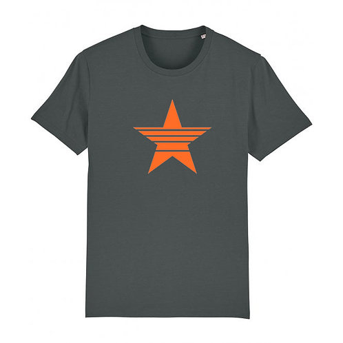 Mens Strikethrough Star Tee Anthracite