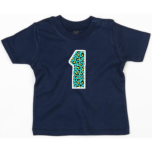 Baby Navy Number Tee
