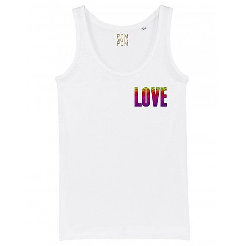 Womens Holographic LOVE Tank Top