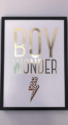 'Boy Wonder' Foiled Wall Print (unframed)