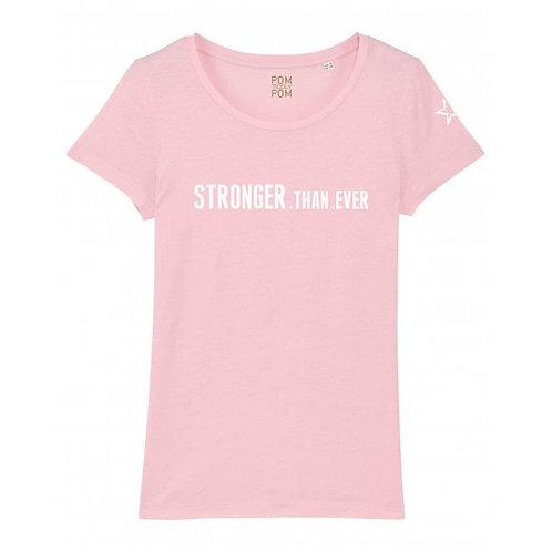 Womens Lightweight Stronger.Than.Ever Tee Pink