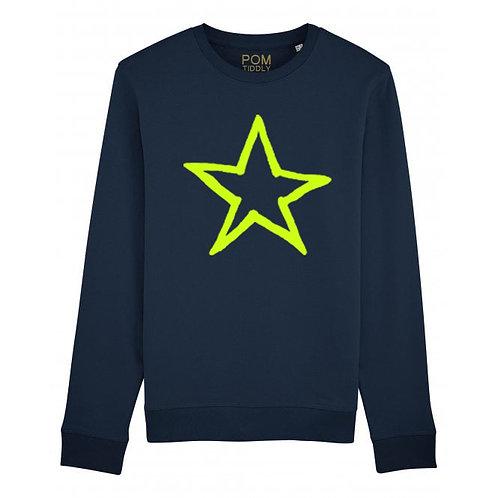 Kids Star Sweatshirt Navy
